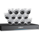 Dahua 16-Channel DVR 4tb w/ 4x4K/8x5mp Eyeball Cameras