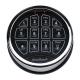 SecuRam SafeLogic Biometric Safe Lock Top-Lit Keypad, Chrome