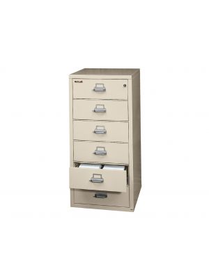 FireKing 6-2552-C Card-Check-Note File Cabinet, 6 Drawer