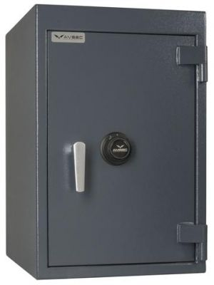 AMSEC BWB3020 B Rate Wide Body Safe shown with UL Listed Group II key-changeable combination lock