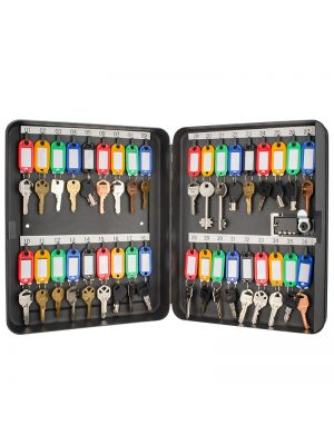 Barska Position Combo Lock Key Cabinet includes 36 colored key tags
