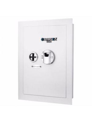Barska Medium Biometric Wall Safe, White