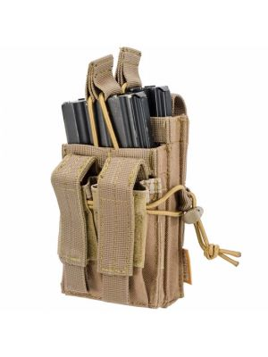 Barska Loaded Gear CX-950 Dual Stacked Rifle & Handgun Mag Pouch, dark earth