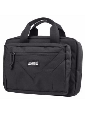 Barska Loaded Gear RX-800 Dual Tactical Pistol Bag includes zipper compartment with magazine pouches