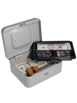 Barska CB11784 Small Combination Cash Box with removable 3-compartment tray