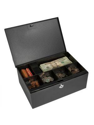 Barska CB11792 Key Locking Cash Box with removable Compartment Tray
