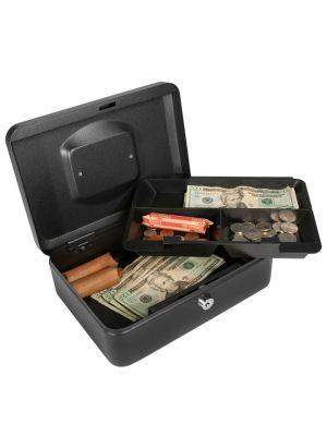 Barska CB11832 Medium Key Locking Cash Box with 2 layers of cash storage
