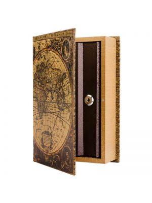 Barska CB12480 Antique Map Book Covert Lock Box