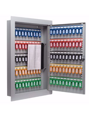 Barska Adjustable In-Wall Key Cabinet includes colored key tags