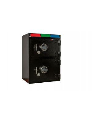 FireKing CS2820-FK1 Double Door 3 Drawer Deposit Safe w/ dual SafeLogic digital locks