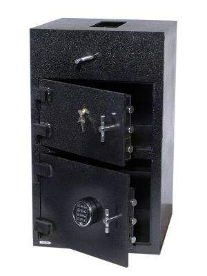 FireKing RH3420K2-SG40FK1 B-Rate Rotary Hopper Deposit Safe, angle open