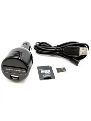 KJB Car Charger Hidden Camera w/ Night Vision kit includes SD card, adapter, charger and usb cable