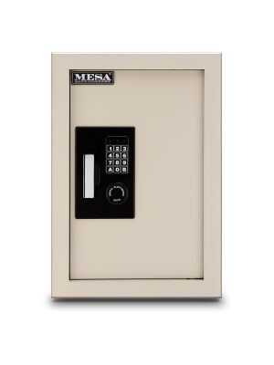 Mesa Safe MAWS2113E Wall Safe features a customizable keypad lock with a programmable time delay