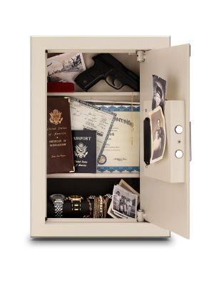 Mesa Safe MAWS2113E Wall Safe includes 2 expandable shelves