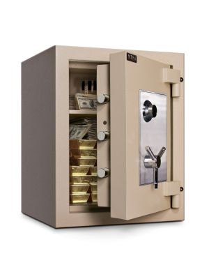 Mesa Safe MTLE2518 TL-15 Safe door is constructed with a barrier of inner and outer plates enclosing fire-resistant and burglary material
