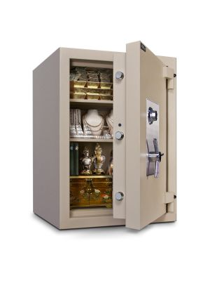 Mesa Safe MTLE3524 TL-15 Safe door is constructed with a defense barrier of outer and inner plates enclosing fire and burglary resistant material
