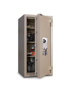 Mesa Safe MTLE5524 TL-15 Safe door is constructed with a defense barrier of inner and outer plates enclosing fire and burglary resistant material