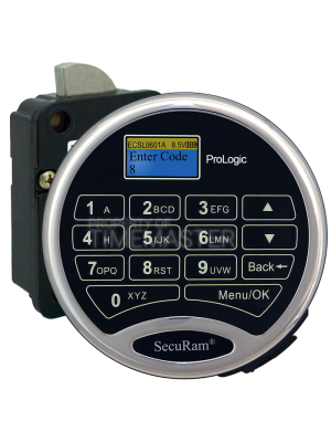 SecuRam Prologic L01 Biometric Surelock Swing Bolt Kit 1, Chrome