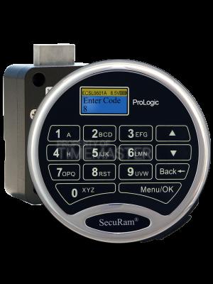 SecuRam Prologic L01 Biometric Surelock Dead Bolt Kit 2, Chrome