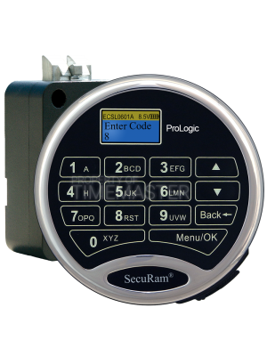 SecuRam Prologic L01 Biometric Surelock Spring Lock Bolt Kit 3, Chrome
