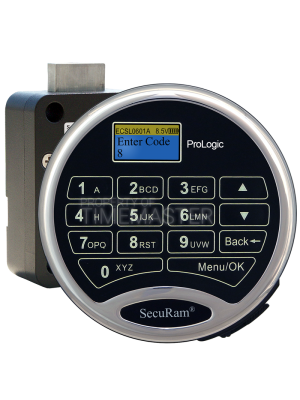 SecuRam Prologic L02 Biometric Surelock Swing Bolt Kit 2, Chrome