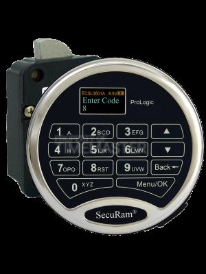 SecuRam Prologic L22 Biometric Swing Bolt Kit 1, Chrome Keypad
