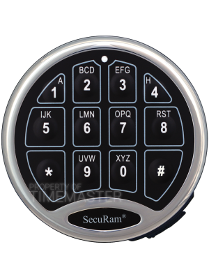 SecuRam Safelogic Biometric Basic Battery Compartment Keypad, Chrome
