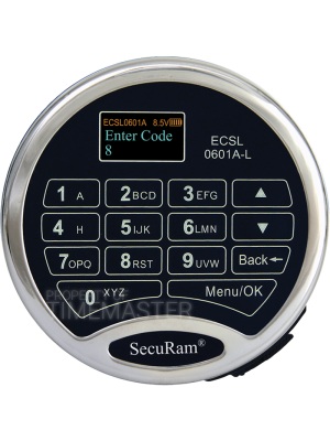 SecuRam Prologic L62 Biometric Battery Compartment Keypad, Chrome