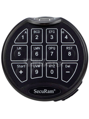 SecuRam Scanlogic Biometric Basic Keypad, Matte Black