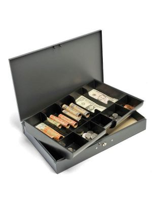 STEELMASTER 10 Compartment Steel Cash Box