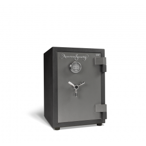 AMSEC BFS2214E1 U.L. & ETL Rated Burglary Fire Safe with attractive 2-tone charcoal-gray finish with chrome trim