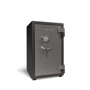 AMSEC BFS2815E1 U.L. & ETL Rated Burglary Fire Safe with attractive 2-tone charcoal-gray finish with chrome trim