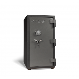 AMSEC BFS3416E1 U.L. & ETL Rated Burglary Fire Safe has an attractive 2-tone charcoal-gray finish with chrome trim