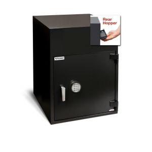 AMSEC BWB3025FLR B-Rate Rear Loading Depository Safe shown w/ ESL electronic lock