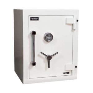 AMSEC AMVAULT CE2518 TL-15 Fire Rated Safe is constructed of high density fire & burglary resistant composite material