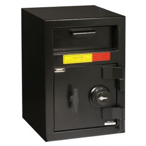 AMSEC DSF2014 Front Loading B-Rate Depository Safe shown with Group II Combination lock