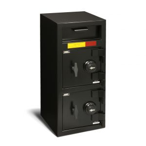 AMSEC DSF3214 Front Loading B-Rate Depository Safe shown with dual combination lock