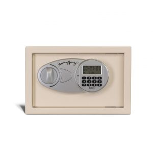 AMSEC EST813 Compact Electronic Burglary Safe, front closed