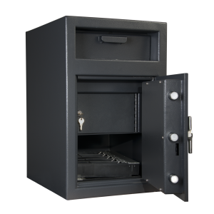 AMSEC DSF2516 Till Storage Front Loading Depository Safe features an interior locker and room for cash tills