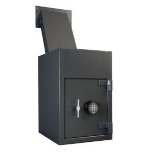 AMSEC DSR2516 Till Storage Depository Safe features a reverse loading hopper that allows through-wall deposits