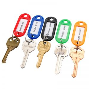 Barska Assorted Key Tags for Key Cabinets with labeling windows
