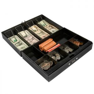 Barska CB11794 Cash Box w/ Compartment Tray