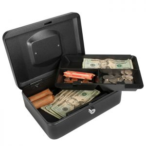 Barska CB11832 Medium Key Locking Cash Box