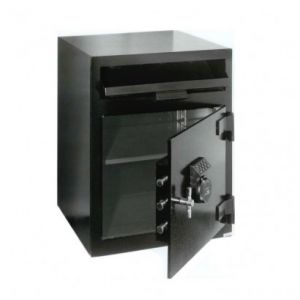 FireKing MB2020-FK1 B-Rate Depository Safe, angle open