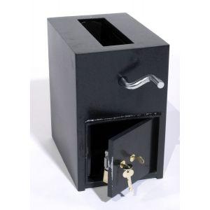 FireKing RH13K-SG4440 B-Rate Rotary Hopper Deposit Safe, angle open