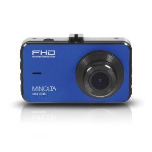 Minolta MNCD36 1080p Full HD Dash Camera in blue front view