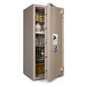 Mesa Safe MTLE6528 TL-15 Safe door is constructed with a defense barrier of outer and inner plates enclosing fire and burglary resistant material