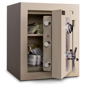 Mesa Safe MTLF1814 TL-30 Safe door is constructed of a defense barrier of inner and outer plates enclosing fire and burglary resistant materials