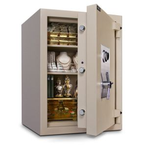 Mesa Safe MTLF3524 TL-30 Safe door is constructed with a defense barrier of inner and outer plates enclosing fire and burglary resistant materials
