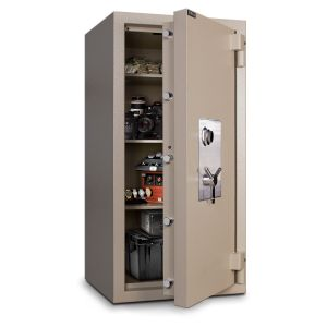 Mesa Safe MTLF5524 TL-30 Safe door is constructed with a defense barrier of outer and inner plates enclosing fire and burglary resistant materials